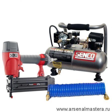 КОМПЛЕКТ: профессиональный гвоздезабивной пневмопистолет Senco finishpro18 и компрессор Senco PC 1010 Se-FinishPro 18 MG-PC1010eu-АМ