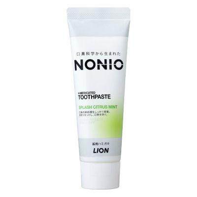 Lion Nonio Профилактическая зубная паста для удаления неприятного запаха, отбеливания, очищения и предотвращения появления и развития кариеса с ароматом трав и мяты 130 гр