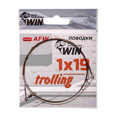 Поводок для троллинга Win 1х19 (AFW) Trolling 20 кг 100 см