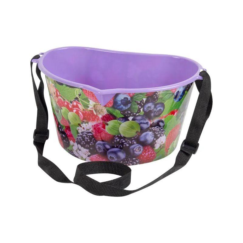 Лукошко для сбора ягод 3 л (цвет фиолетовый)
