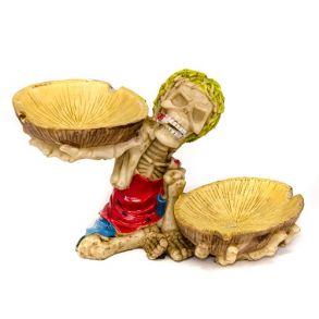 Пепельница для сигарет Скелет с кокосами