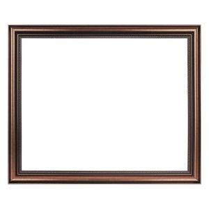 Рама для зеркал и картин, пластиковая, 40 х 50, ширина 1,6 см, Agatha, бронза