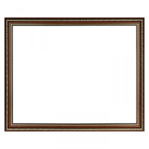 Рама для зеркал и картин, пластиковая 40 х 50, ширина 2,3 см, Dorothy, коричневая
