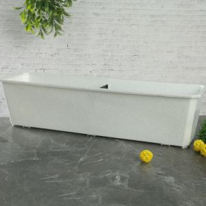 Ящик балконный 60 см, цвет мраморный