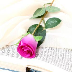 """Цветок искусственный """"Бутончик розы"""" 5х50 см сиреневый   4738230"""