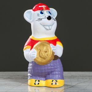 """Сувенир """"Крыса с монетой"""", акрил, 12,5 см, микс   4613060"""