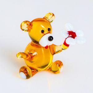 """Сувенир из стекла """"Мишка с ромашкой""""   4574586"""