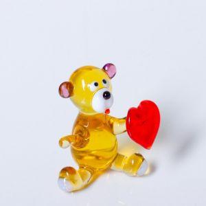 """Сувенир из стекла """"Мишка""""   4574589"""