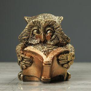 "Сувенир-статуэтка ""Сова с книгой"" 10 см"