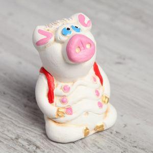 """Статуэтка """"Свинка с рюкзаком"""", 6 см"""