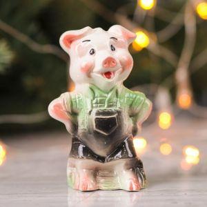 """Сувенир """"Свинка Мастер"""", 11 см микс, керамика"""