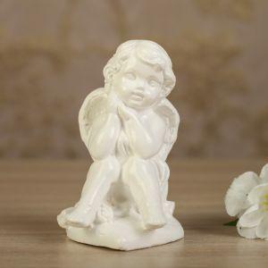 """Статуэтка """"Ангел на сердечке"""", белая, 10 см"""