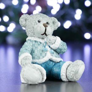 """Фигура """"Медведь №2"""" синий 8,5х7,5х8см   4488543"""
