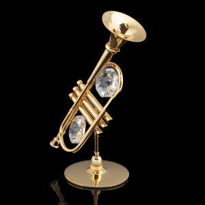 Сувенир «Труба», 6?4,5?8 с, с кристаллами Сваровски 1171981