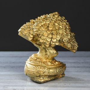 """Сувенир """"Денежное дерево"""" бронзовый цвет, 22 см"""