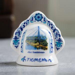 Колокольчик в форме кокошника «Тюмень. Мост влюблённых»