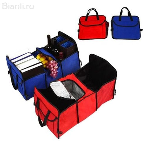 Трехсекционный органайзер - холодильник в багажник автомобиля Trunk Organizer & Cooler