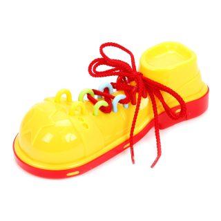 Шнуровка Клоунский ботинок (красно-желтый)