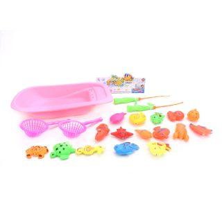 Игровой набор Рыбалка магн., сито 2 + удочки 2 + ванночка + фигурки 16, пакет
