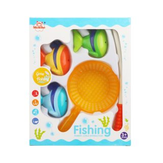Игровой набор Рыбалка магн.удочка + сито + 3 фигурки, в ассорт., кор.