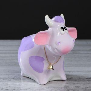 """Копилка """"Бычок"""", фиолетовый, 16 см, микс 627433"""