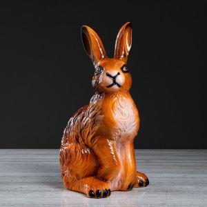 """Копилка """"Заяц"""", рыжая, глянец, 40 см"""