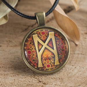 """Амулет """"Манназ"""" (символ поддержки и взаимосвязи, помощь советом или интуитивное решение) (бронзовая коллекция)"""