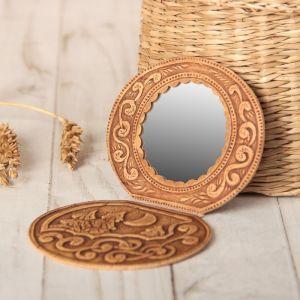 Зеркало «Ночка», на шарнирах, береста 708086