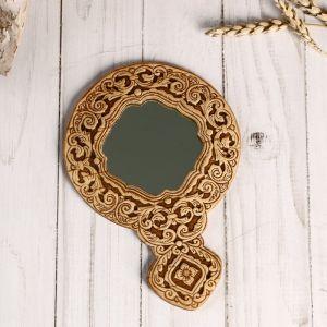 Зеркало «Тисненое»,с ручкой, береста 4859771