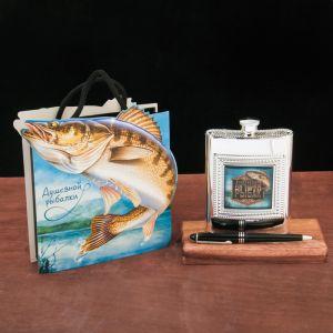 """Подарочный набор """"Лучший рыбак"""", фляжка 240 мл., ручка 2630088"""