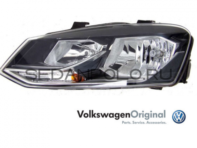 Фара левая VAG Volkswagen Polo Sedan GT (галоген)