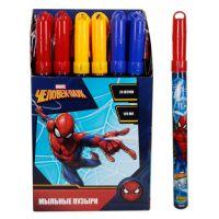 1toy Marvel Человек Паук, мыльные пузыри, колба в термоплёнке, 120 мл