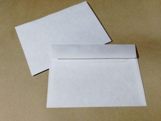 Почтовая открытка Белый конверт для открытки, 5шт