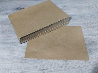 Почтовая открытка Крафт конверт для открытки, 5шт