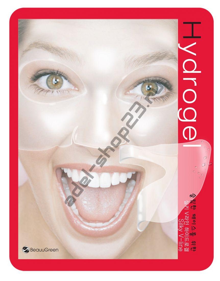 BEAUUGREEN - Моделирующая гидрогелевая маска для восстановления контуров лица Silky V-Line Hydrogel Mask