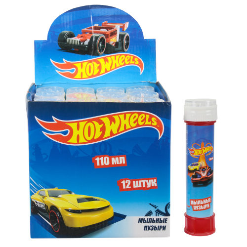 1toy Hot Wheels, мыл. пузыри, бут. 110мл, д/б