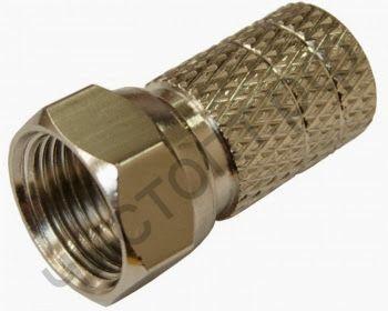Разъём RG 6 (штекер F-разъём) резин.кольцо (д.20mm) (за упак. 10шт) OT-AVT13