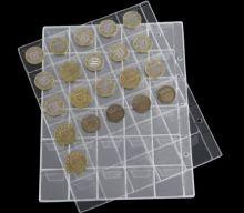 Лист для коллекционирования монет прозрачный на 30 ячеек с клапанами
