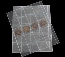 Лист для коллекционирования монет прозрачный на 20 ячеек с клапанами