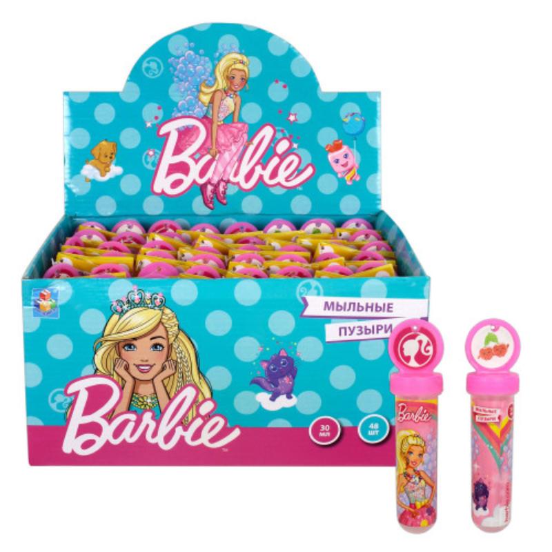 1toy Barbie мыльные пузыри. в колбе с термоплёнкой