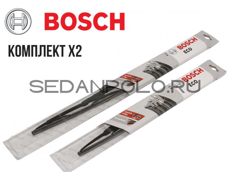 Комплект щеток стеклоочистителя L+R  BOSCH ECO