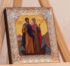Петр и Феврония Муромские (9х10,5см)