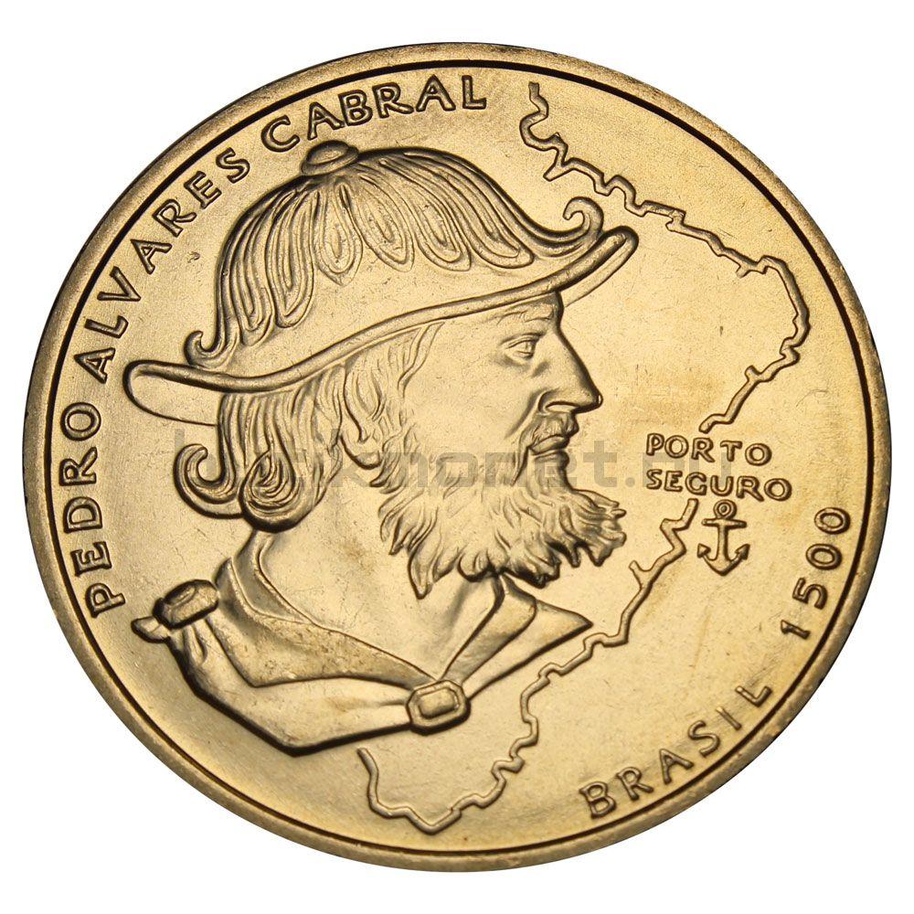 200 эскудо 1999 Португалия 500 лет с момента высадки Педро Альваро Кабрала в Бразилии