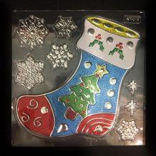 Набор новогодних наклеек Room Decor, Волшебный носок