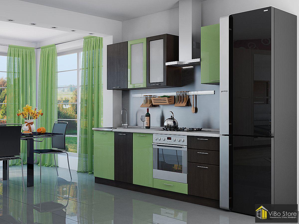 Валерия-М-03 21695. Кухня лайм венге глянец