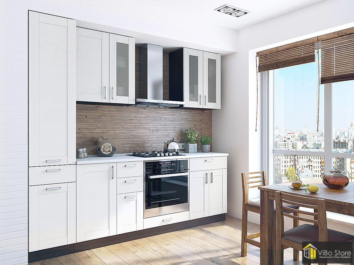 Недорогая, компактная, белая кухня