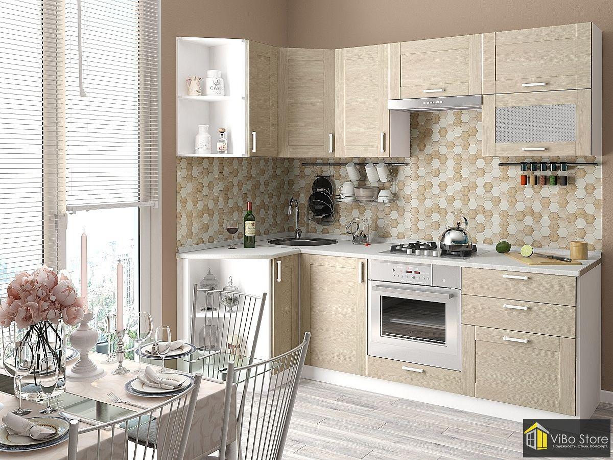 Доступная, недорогая кухня с фасадом капучино глянец