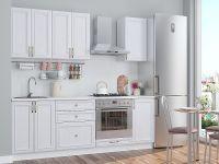 Белая прямая кухня эконом