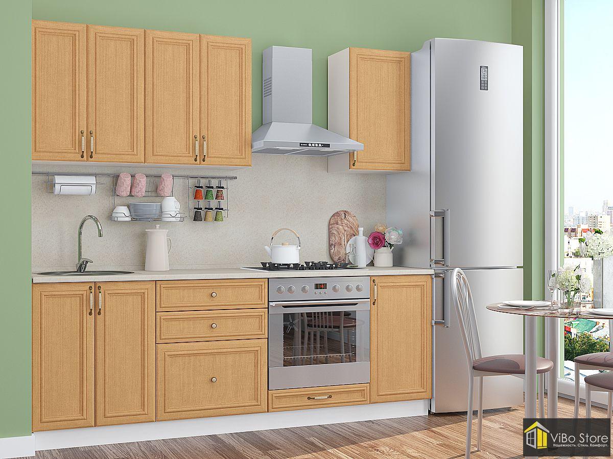 Недорогая кухня с выдвижными ящиками