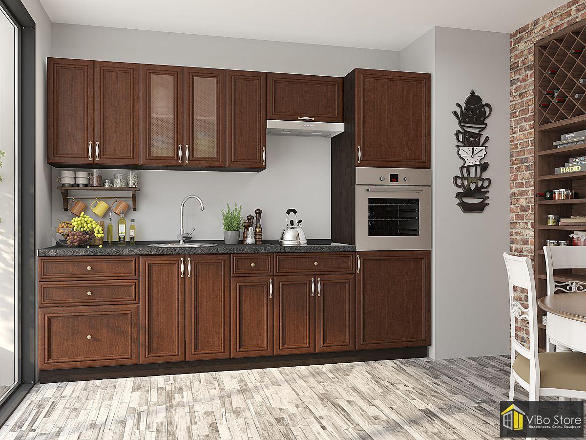 Модульная кухня цвет орех